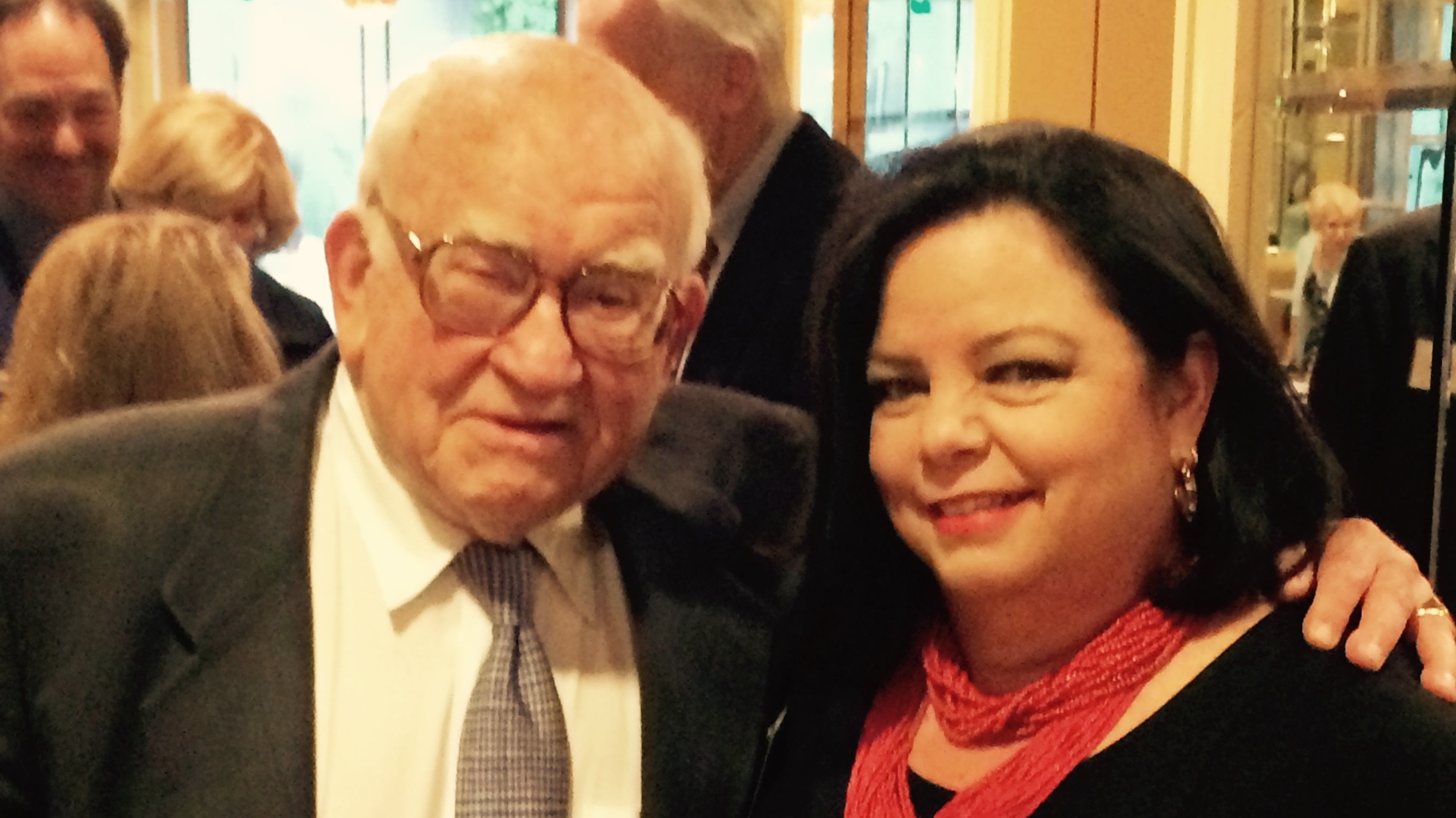 Photo Credit: Ed Asner and Cynthia Willis-Esqueda at the Death Penalty Focus awards dinner